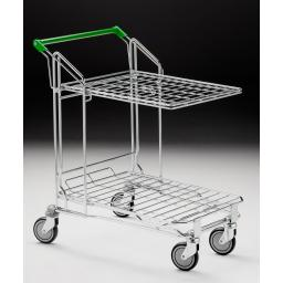 Flat Bed Trolley with Top Shelf