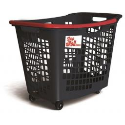 55 Litre, 4 Wheel Trolley Basket - Red Handle