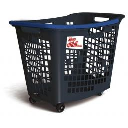 55 Litre, 4 Wheel Trolley Basket - Blue Handle