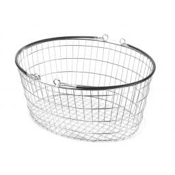The Ellipse Oval Wire Basket - Black Handle