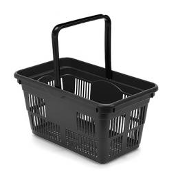 Recycled Plastic Hand Basket - BLACK