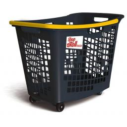 55 Litre, 4 Wheel Trolley Basket - Yellow Handle