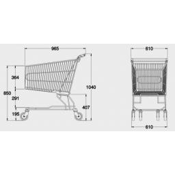 180 Litre Large Shopping Trolley