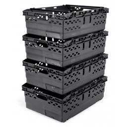 Black 38L Stack/Nest Crates