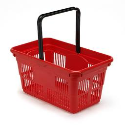 24 Litre Plastic Hand Basket - RED