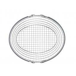 The Ellipse Oval Wire Basket - Dark Grey Handle