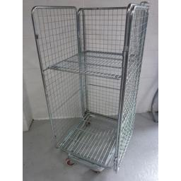 4 Sided Mesh Roll Cage with Fixed Shelf