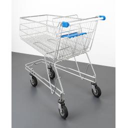 150 Litre Medium Wire Refurbished Supermarket Shopping Trolley