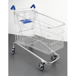 212 Litre Large Wire Refurbished Supermarket Shopping Trolley