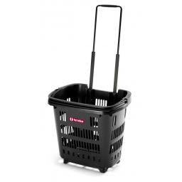 34 Litre Trolley Basket - Recycled Plastic - Black