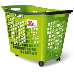 55 Litre Trolley Basket - Green