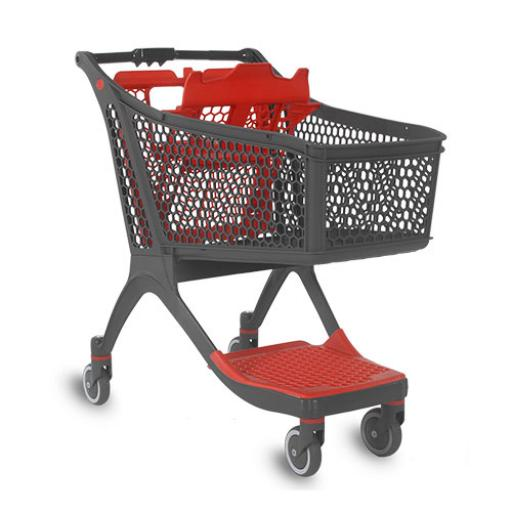 Mid sized plastic trolley - 129 litres
