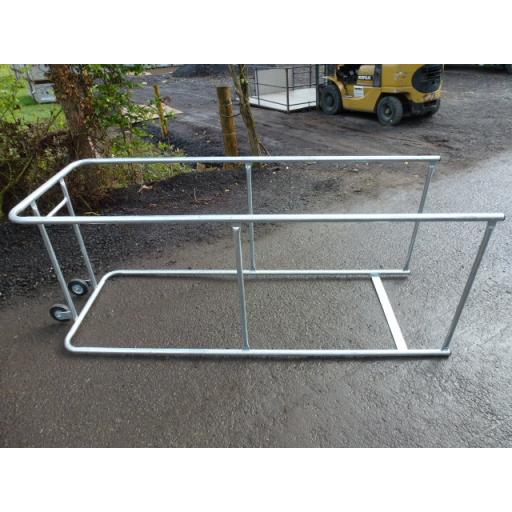 Galvanized Mobile Trolley Bay