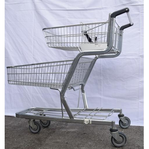 Refurbished Double Basket Trolley