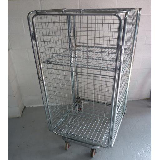 Refurbished 4 Sided Full Security Cage With Shelf