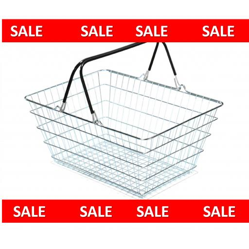 23 Litre Wire Shopping Basket - Dark Green