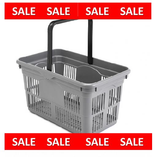 24 Litre Grey Hand Baskets