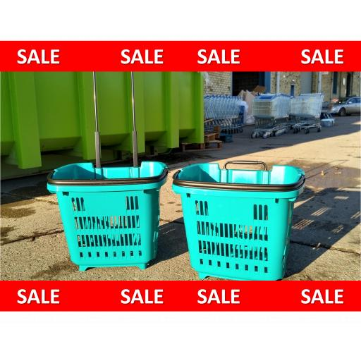 34 Litre Trolley Basket - Turquoise