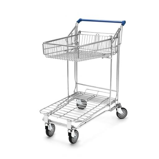 Flatbed Trolley 55L Top Basket