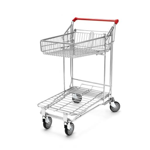 Flatbed Trolley 55L Top Basket