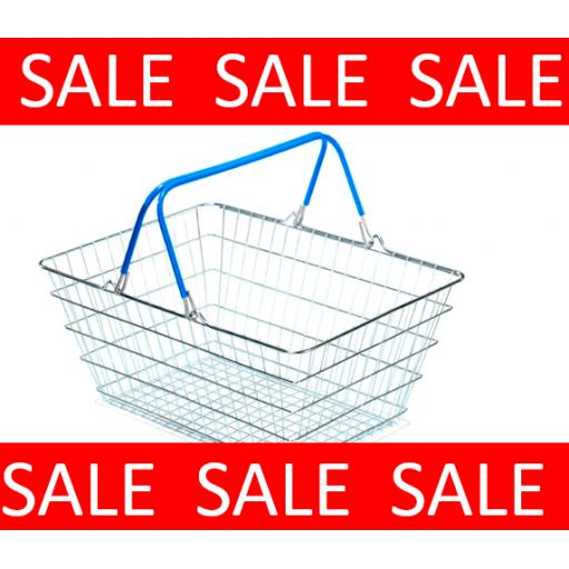Blue 23 Litre Wire Basket - Sale